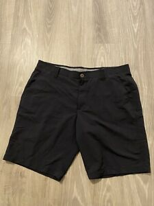 Mens Under Armour Heatgear Loose Fit Casual Golf Match Shorts Size 40 Black $24.00