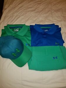 Matching Under Armour Golf Outfit, 2 shirts, 1 shorts, Rare hat $75.00