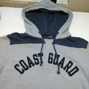 UNDER ARMOUR UNITED STATES COAST GUARD HOODIE HOODED SWEATSHIRT Sz Mens L $24.99