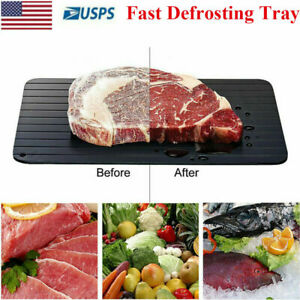 Fast Defrosting Tray Rapid Thawing Board Safe Defrost Meat Frozen Food Plate L