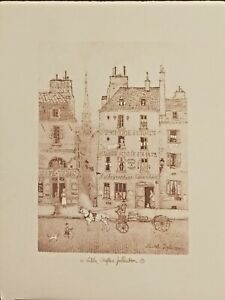 Michel Delacroix Sepia original lithograph poster hand drawn by the artist $25.00