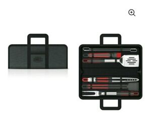 Expert grill stainless steel soft grip BBQ Grill Tool Set,10-piece