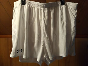 NEW Under Armour Mens 3XL Light Running Shorts lined WHITE $15.97