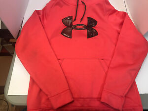 Womens Under Armour Hoodie Cold Gear Storm semi fitted Size Medium Pink Camo $19.99