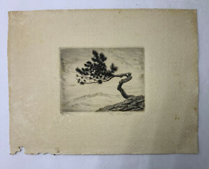 Lyman Byxbe Lone Pine Etching Signed $44.99