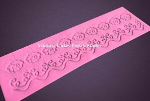 Silicone Lace Mat Mold Mould Fondant Edible Sugarcraft Decorating Cake Wedding