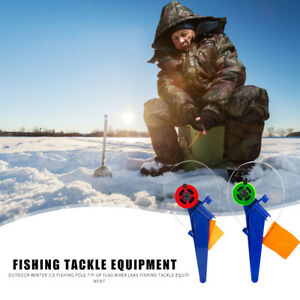 Portable ABS Winter Ice Fishing Rod Flag Tip-Up Outdoor River Fishing Tackle