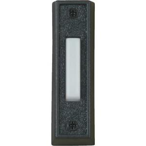 IQ America Wired Black Plastic Lighted Doorbell Push-Button DP-1102A  - 1 Each