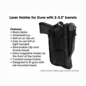 Tactical Laser Holster Fits Small .380 pistols w laser sight or light attached $19.99