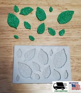 1Pc 3D Rose Flower Leaf Silicone Mold Cake Chocolate Sugarcraft Fondant Mould