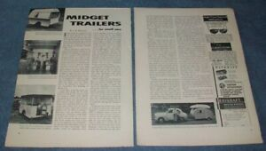 1953 Vintage British Small Camping Trailers Vintage Info Article