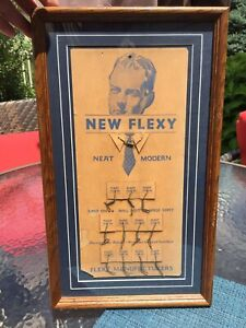 Vintage New Flexy Neat Modern For Mens' Dress Collar Trade Store Display Framed $50.00