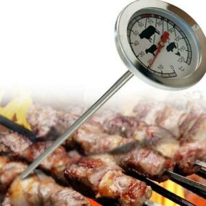 Instant Read Thermometer Cooking BBQ Grill Probe Stainless Steel Food Meat Gauge