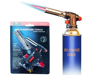 BUTANE TORCH Kitchen Culinary Cooking Blow Food Torch with Adjustable Flame BBQ $11.99