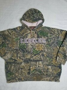 Cabelas Hunting Seclusion 3D Camo Hoodie Sweatshirt Sweaters Women sz XL Anorak