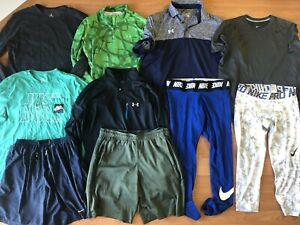 LOT of 10 Mens Large Nike & Under Armour Shirt Tops, Shorts & Compression Tights $10.00