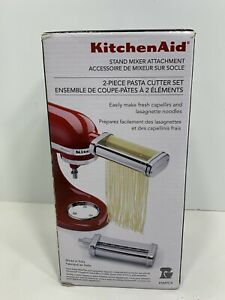 2-Piece KitchenAid KSMPCA Pasta Cutter Set for Stand Mixers, NEW!