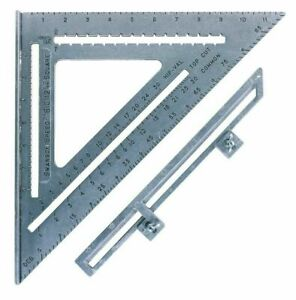 Swanson Tool SO107 The Big 12 Speed Square with Layout Bar 12 inch x 12 inch