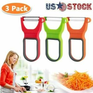 3PCS Kitchen Tools Gadgets Vegetable Fruit Peeler Parer Julienne Cutter Slicer