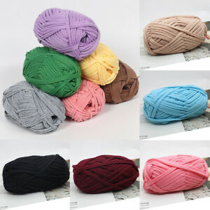 100g Ball Soft Fabric Yarn For DIY Knitting Carpet Bag Crochet Cloth Yarns $6.89