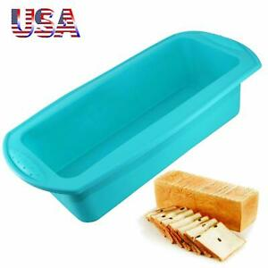 Silicone Molds Cake Pans 1/2 Pcs Baking Loaf Bread Pan Microwave Safe Non Stick