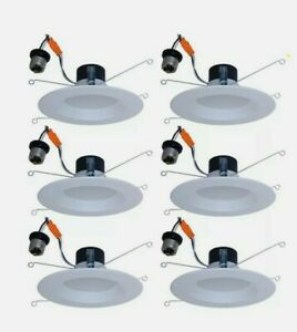 Utilitech 6 Pack LED 5 6 in 65 Watt Equivalent White Dimmable Recessed Downlight