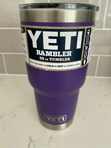 New Peak Purple Yeti 30oz Rambler Cup With Magslider Lid Discontinued Color