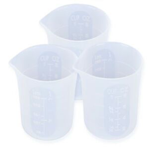 Transparent 250ML Silicone Resin Measuring Cup Mould DIY Jewelry Makin SE