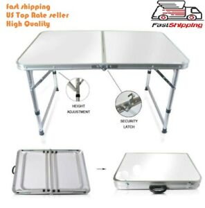 Portable Indoor Outdoor Aluminum Folding Table 4#x27; Picnic Party Camping US seller