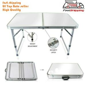 Portable Indoor Outdoor Aluminum Folding Table 4#x27; Picnic Party Camping US seller $33.99