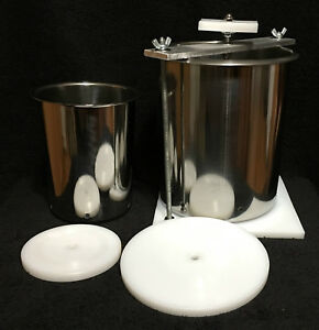 Stainless Steel 6quot; amp; 4quot; Spring Assisted Double Cheese Press $95.99
