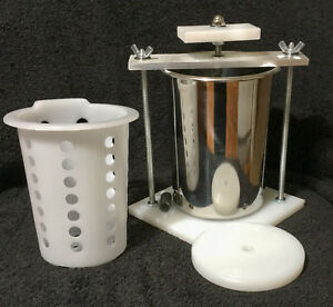 CHEESE PRESS STAINLESS STEEL 4quot; SPRING ASSISTED ORGANIC W SOFT CHEESE MOLD $58.99