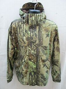 NEW CABELA#x27;S DRY PLUS CAMO SILENT HUNTING WATERPROOF JACKET MEN#x27;S SIZE L 931004