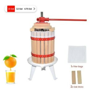 4.75 Gallon Classic Wooden Wine Cider Fruit Press FREE SHIPPING