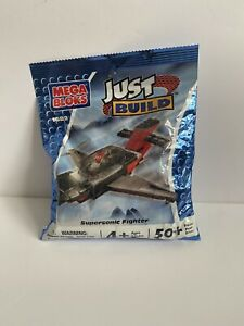 Mega Blocks Just Build Kits Supersonic Fighter #1682 50 Pieces Age 4 NIP