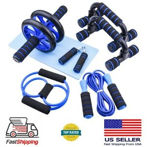 US Ab Roller Wheel Workout Equipment Set For Abdominal Exercise Home Gym Fitness $22.99