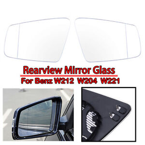 LeftRight White Power Heated Mirror Glass Fit For BENZ B C E S Class W204 W212 $26.98