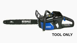 Kobalt 80 Volt Max 18quot; Cordless Electric Chainsaw 80V Tool Only No Battery