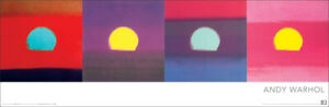ANDY WARHOL SUNSETS POP ART 12x36 INCH POSTER PRINT 1972 SUNSET SERIES $12.99