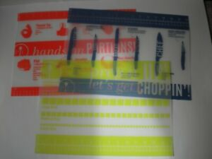 Pampered Chef Flexible Cutting Mats with Ruler Set of 3