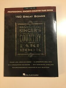 Professional Singer#x27;s Country Fake Book: Low Voice Hal Leonard Corp Softcover $25.99