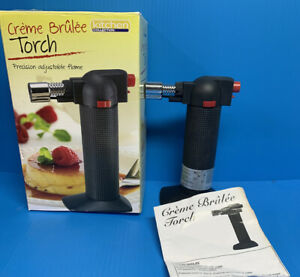 COOKING TORCH Refillable Kitchen Butane Culinary Burner Creme Brulee Blowtorch $18.95