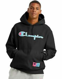 Men#x27;s Champion Life Reverse Weave Hoodie Chenille Logo