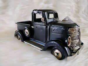 NEW Rustic Vintage Style Black Metal Pickup Truck Farmhouse Country Rustic