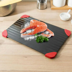 Aluminum Thawing Plate Rapid Defrosting Tray Thaw Defrost Meat Frozen Food FDA