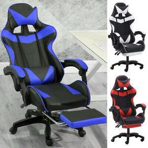 Computer Gaming Racing Chair Leather High back Office Recliner Desk Seat Swivel $135.99