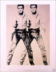 ANDY WARHOL Two Elvis Official Authorized Litho Print 1989 $225.00