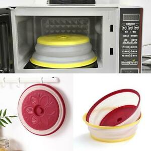 Anti Sputtering Magnetic Hover Microwave Cover New Food Splatter Guard F4W7