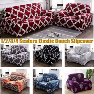 Universal Sofa Slipcovers Covers Stretch Furniture Elastic 1 2 3 4 Seaters US
