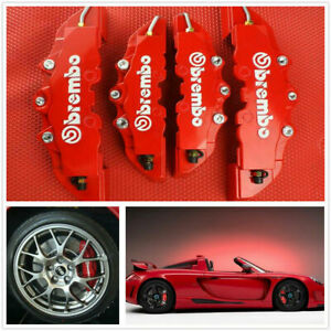 4pcs Front Rear Universal Red 3D Style Car Disc Brake Caliper Covers $18.99